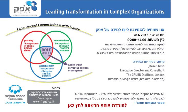 בחסות תוכנית MBA בפסיכולוגיה עסקית וניהולית